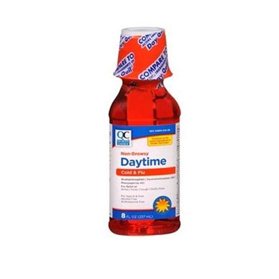 QC QC DAYTIME COLD/FLU LIQUID 8 OZ