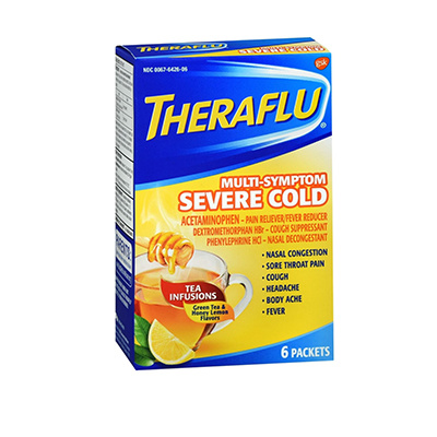 THERAFLU THERAFLU MULTI-SYMTOM SEVERE COLD W/LIPTONT 6CT