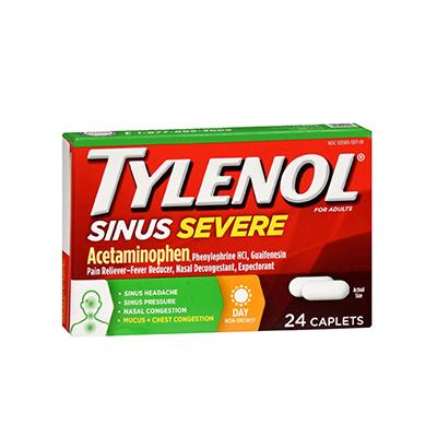 TYLENOL TYLENOL SINUS CONGESTION SEVERE CAPLET 24CT