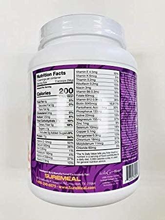 NUTRITION DEPOT ND SUREMEAL BEAUTY PLUS - NATURALLY SWEETENED 1.8 LB (PURPLE) - Sữa Bột Đẹp Mịn Da (Đường Tự Nhiên) - 1 Hộp 1.8lb