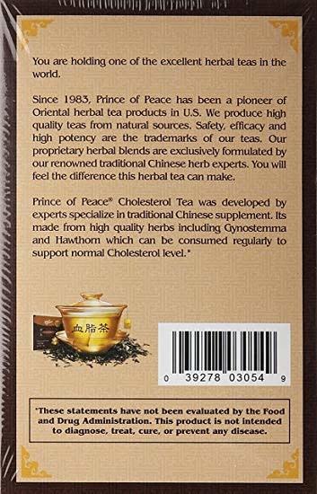 PRINCE OF PEACE PP CHOLESTEROL TEA BAG 1.8GM (18 BAGS) - TRÀ ỔN ĐỊNH CAO MỠ  -  18 GÓI