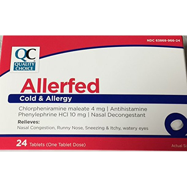 Quality Choice QC COLD & ALLERGY 24 TABLETS