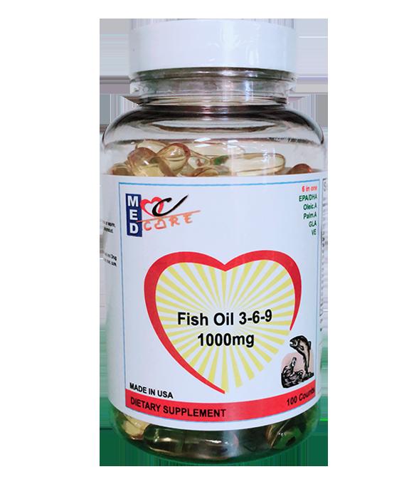 """MEDCARE MC FISH OIL 100CT  5000 - """"Công Thức Thông Dụng Nhất"""" - Dầu Cá Omega 3-6-9"""