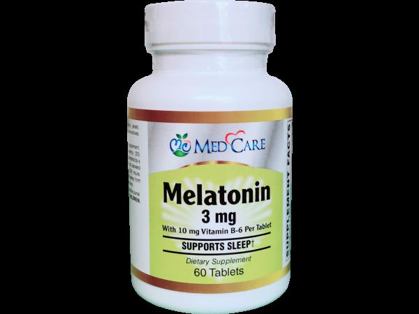 MEDCARE MC MELATONIN 3MG TABLET 60CT - THUỐC HỖ TRỢ CHỨNG MẤT NGỦ