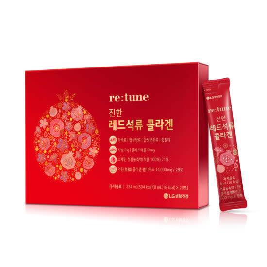 LG RETUNE RED POMEGRANATE COLLAGEN DIETARY SUPPLEMENT 8ML X 28 PACKETS - 51800943 - NƯỚC UỐNG COLLAGEN HÀN QUỐC