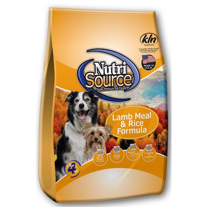 NutriSource NutriSource Lamb Meal and Rice Dry Dog Food