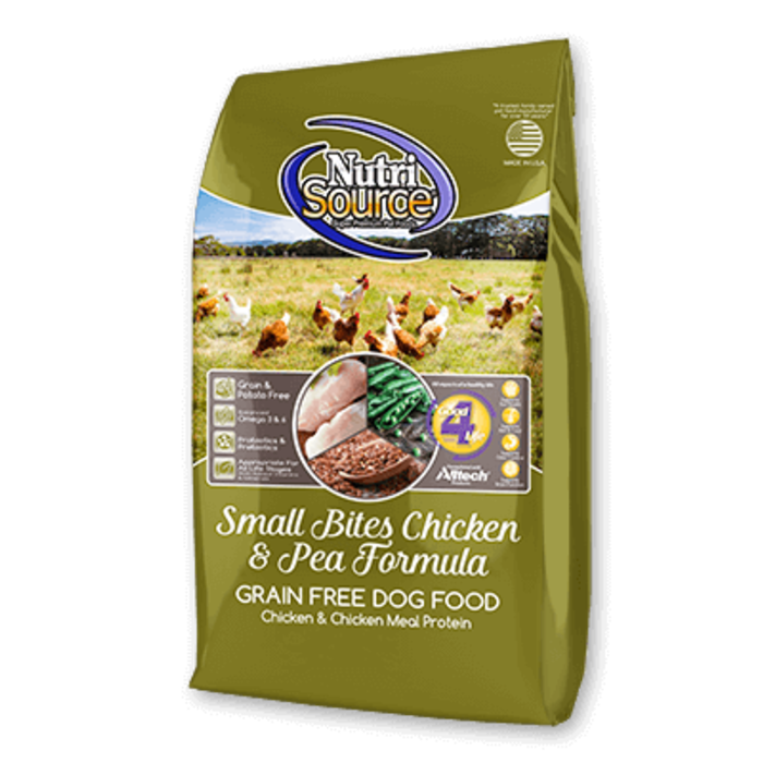 NutriSource NutriSource Grain Free Small Breed Bites Chicken & Pea Recipe Dry Dog Food