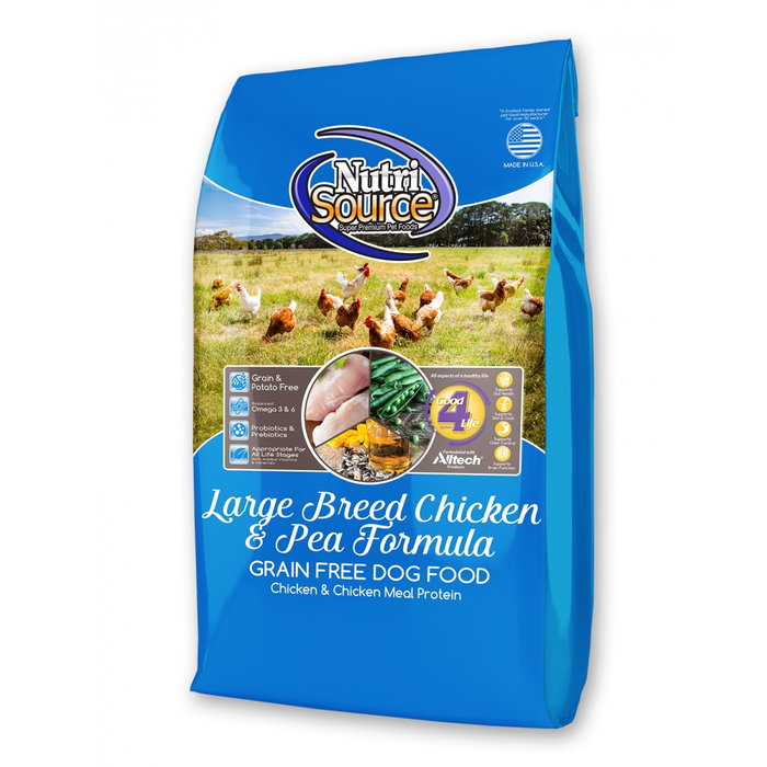 NutriSource NutriSource Grain Free Large Breed Chicken & Pea Dry Dog Food
