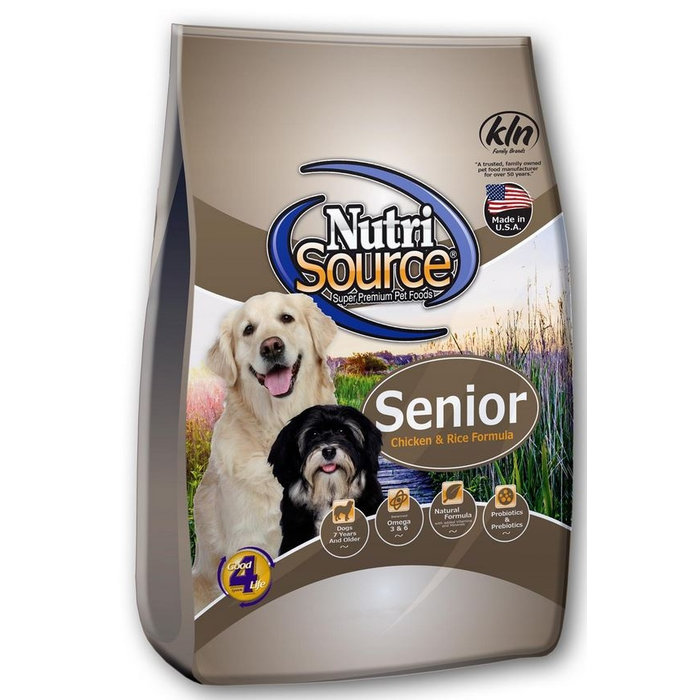 NutriSource NutriSource Senior Chicken and Rice Dry Dog Food
