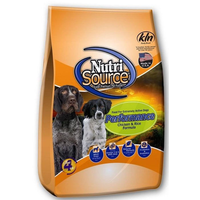 NutriSource NutriSource Performance Chicken & Rice Dry Dog Food