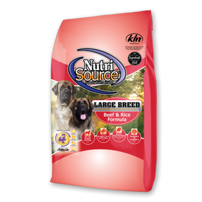 NutriSource NutriSource Large Breed Beef & Rice Recipe Dry Dog Food
