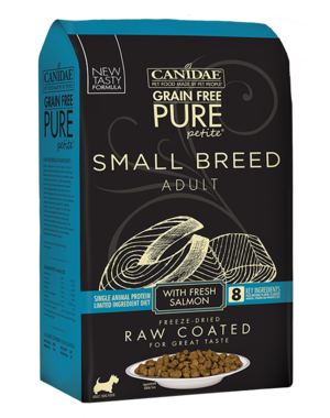 CANIDAE Canidae PURE Petite Small Breed Salmon Recipe Raw Coated Dry Dog Food