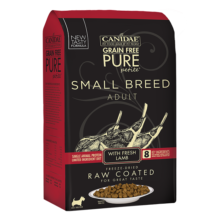 CANIDAE Canidae PURE Petite Small Breed Lamb Recipe Raw Coated Dry Dog Food