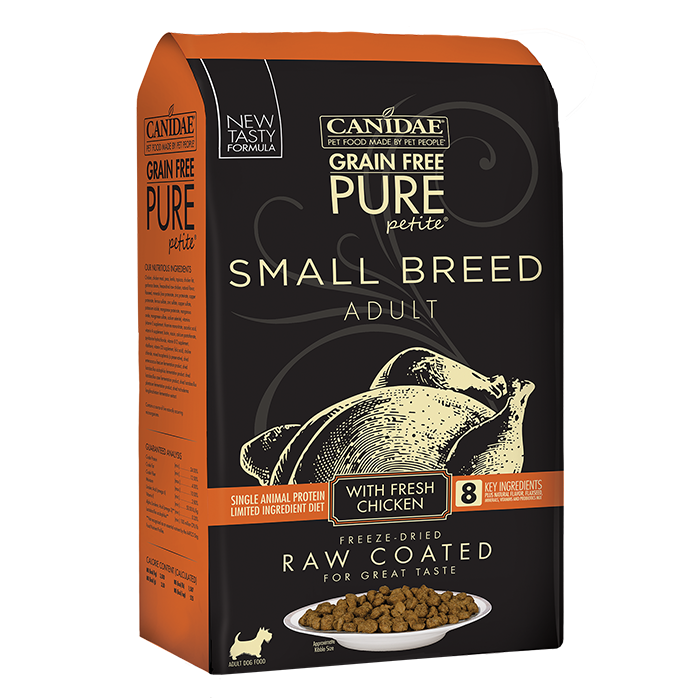 CANIDAE Canidae PURE Petite Small Breed Chicken Recipe Raw Coated Dry Dog Food