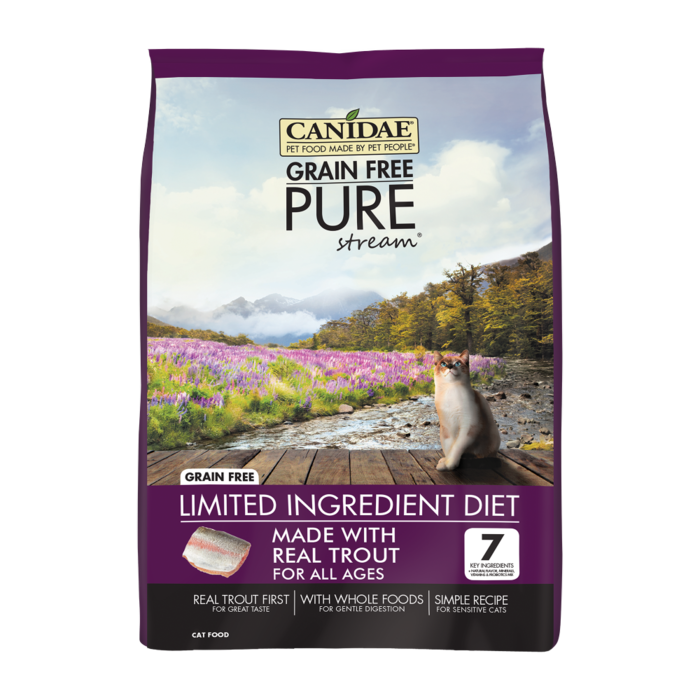 CANIDAE Canidae Grain Free PURE Stream with Trout Dry Cat Food