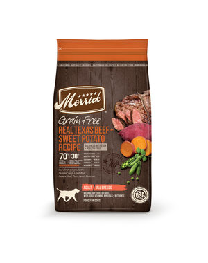 MERRICK PET CARE, INC. Merrick Grain Free Real Texas Beef and Sweet Potato Dry Dog Food