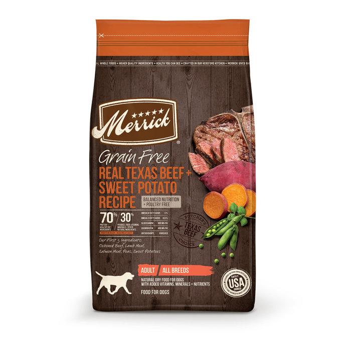 MERRICK PET CARE, INC. Merrick Grain Free Real Texas Beef and Sweet Potato Dry Dog Food