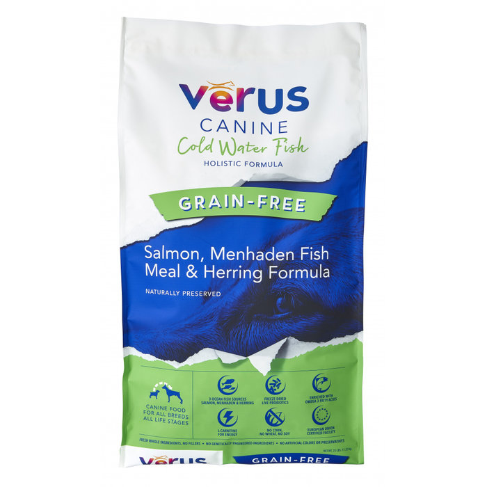 VeRUS VeRUS Grain Free Cold Water Fish Salmon, Menhaden Fish Meal & Herring Recipe Dry Dog Food