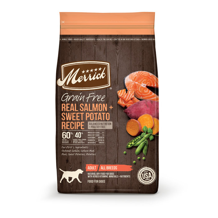 MERRICK PET CARE, INC. Merrick Grain Free Real Salmon and Sweet Potato Recipe Dry Dog Food