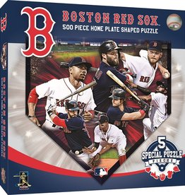 Masterpieces Puzzles & Games Boston Red Sox Home Plate Shaped Puzzle (500pc)