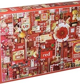 Cobble Hill Puzzle Company Red (1000pc)