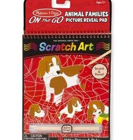 Melissa & Doug Scratch Art (Animal Families) Hidden-Picture Pad