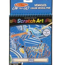 Melissa & Doug Scratch Art (Vehicles) Color-Reveal Pad