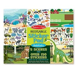 Melissa & Doug Reusable Sticker Pad (Habitats)
