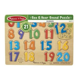 Melissa & Doug See & Hear Sound Puzzle (Numbers)
