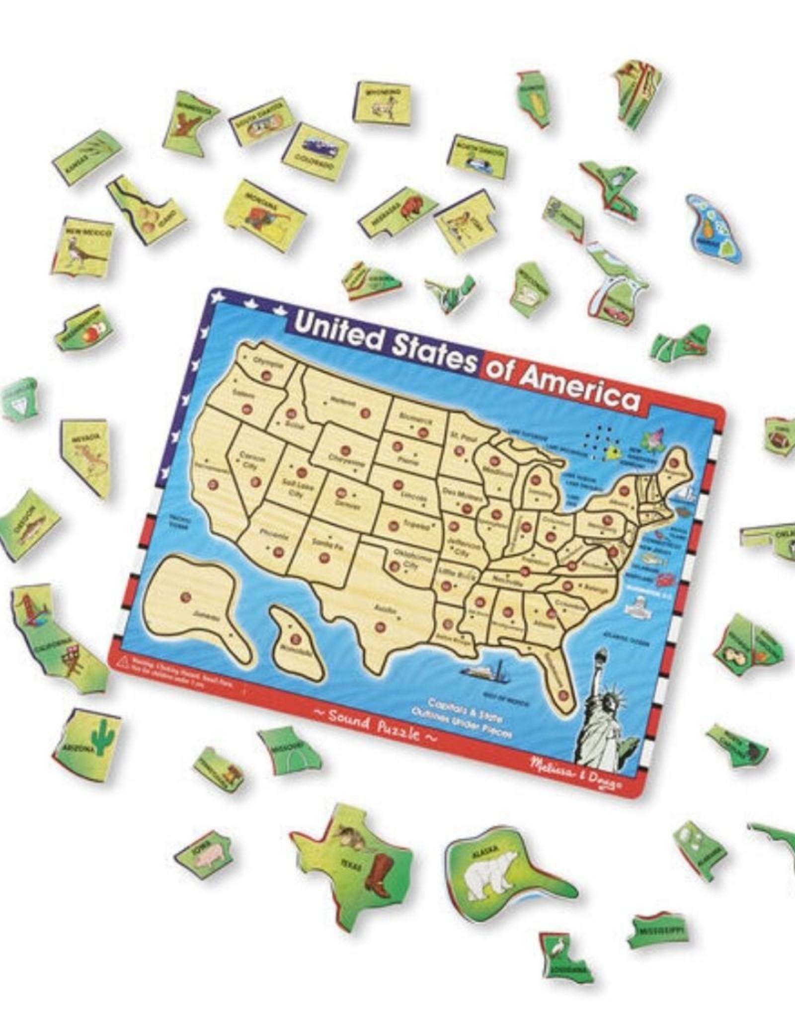 Melissa & Doug See & Hear Puzzle (USA Map)