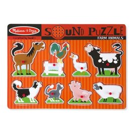 Melissa & Doug Sound Puzzle (Farm Animals)