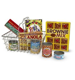 Melissa & Doug Let's Play House! Grocery Basket with Play Food
