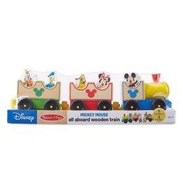 Melissa & Doug Mickey Mouse & Friends All Aboard Wooden Train