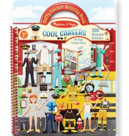 Melissa & Doug Puffy Sticker Activity Book (Cool Careers)