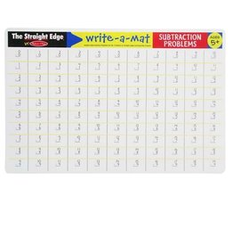 Melissa & Doug Learning Mat (Subtraction Problems)