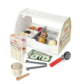 Melissa & Doug Scoop & Serve Wooden Ice Cream Counter