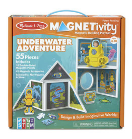 Melissa & Doug Magnetivity Magnetic Building Play Set (Underwater Adventure Set)