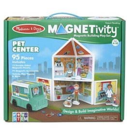 Melissa & Doug Magnetivity Magnetic Building Play Set (Pet Center)