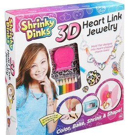 Shrinky Dinks 3D Heart Link Jewelry