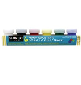 6 Primary Acrylic Paints
