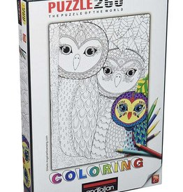 Anatolian Coloring Owls Family (260 pc)