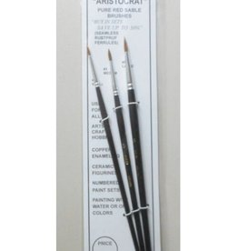 1,3,5 Aristocrat Red Sable Brushes (3)