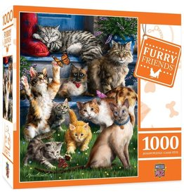 Masterpieces Puzzles & Games Furry Friends: Butterfly Chasers (1000pc)