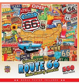Masterpieces Puzzles & Games Greetings from Route 66 (550pc)