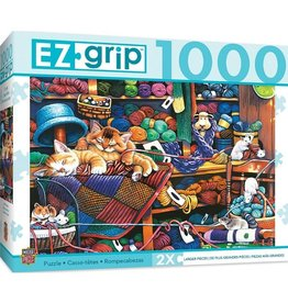 Masterpieces Puzzles & Games Knittin' Kittens (1000pc EZ-Grip)