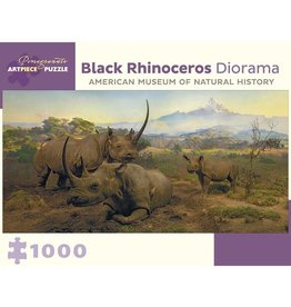 Pomegranate Black Rhinoceros Diorama (1000pc)