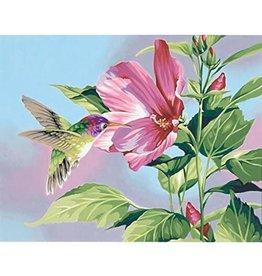 Paint Works Hibiscus Hummingbird - Medium