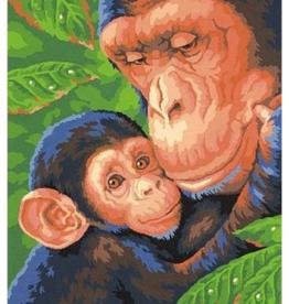 Paint Works Chimp & Baby Chimp (Intermediate)