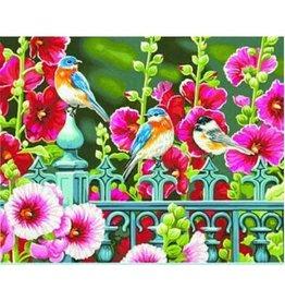 Paint Works Hollyhock Gate - Flowers & Birds (Expert)
