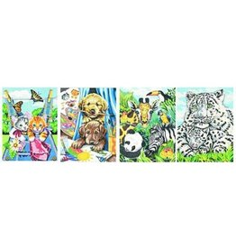 Paint Works Friendly Animals Variety 4 Pack (Pencil by Number)